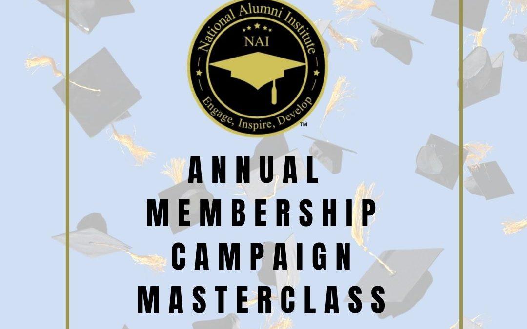 Membership Campaign Masterclass